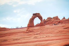 Delicate Arch at the Arches National park Stock Images
