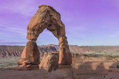 Delicate Arch in Arches National Park near Moab, Utah Royalty Free Stock Photos