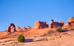 Delicate arch, Arches National Park, USA. During summer sunny day Royalty Free Stock Photography