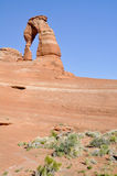Delicate arch, Arches national park (Utah) Stock Photography