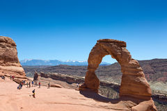 Delicate Arch In Arches National Park Utah Stock Photography