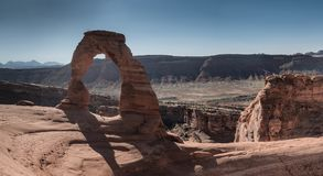 Delicate Arch in Arches National park Utah,. US Stock Image
