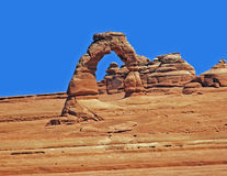 Delicate Arch, Arches NP, Utah royalty free stock images