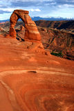 Delicate Arch and Basin Stock Photo