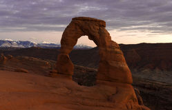 Delicate Arch at Dusk Royalty Free Stock Photos