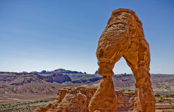 Delicate Arch Formation in Arches national Park Stock Image