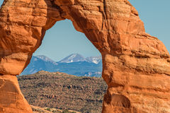 Delicate Arch Frame, Arches N.P. Royalty Free Stock Photos