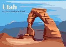 Free Delicate Arch In Arches National Park Royalty Free Stock Image - 166208596