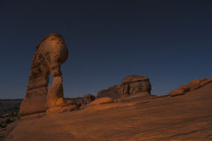 Delicate Arch at Night, Moab Utah Stock Images