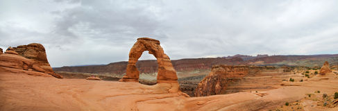 Delicate Arch Panoramic Stock Image