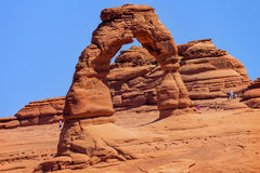 Delicate Arch Rock Canyon Arches National Park Moab Utah Stock Photography