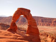 Delicate Arch. Showing the delicate Arch in Arches National Park Stock Photo
