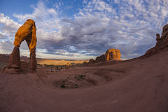 Delicate Arch at Sunrise Stock Image