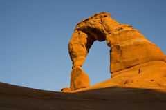 Delicate Arch at Sunset Stock Photography