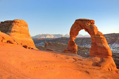Delicate Arch at sunset Royalty Free Stock Photo