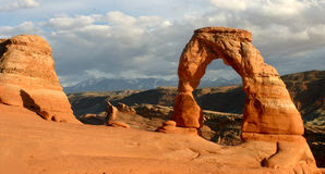 Delicate Arch Sunset Royalty Free Stock Photography