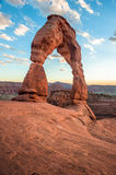 Delicate Arch at sunset Royalty Free Stock Images