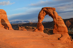 Delicate Arch at Sunset Stock Photos
