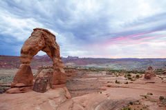 Delicate Arch. At sunset. Arches National Park, Utah Stock Photo