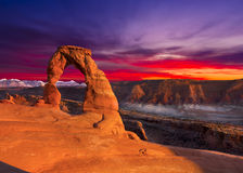 Delicate Arch at Sunset Stock Image