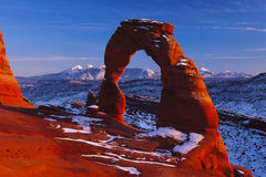 Delicate Arch under Mellienium Sunset Royalty Free Stock Photography