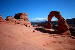 Delicate Arch, Utah. Delicate Arch at Arches National Park, Utah Royalty Free Stock Images