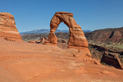Delicate Arch View, Arches N.P. Landscape Stock Photography
