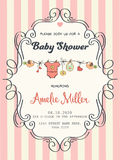 Delicate baby girl shower card Royalty Free Stock Photography