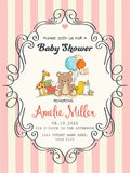 Delicate baby girl shower card. Vector format Stock Images