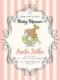 Delicate baby girl shower card Royalty Free Stock Image