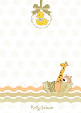 Delicate baby shower card Stock Photography