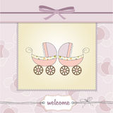 Delicate baby twins shower card Royalty Free Stock Image