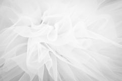 Delicate background mesh fluffy fabric, Black and whit Royalty Free Stock Image