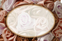 Delicate background with pink roses, place for text, for design Royalty Free Stock Image
