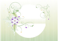 Delicate banner  with a graphic pattern.Postcard. Stock Photography