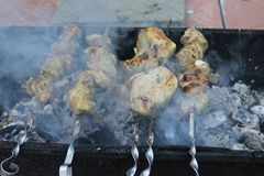 Delicate barbecue on the grill Stock Photography