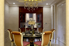 Delicate and beautiful dining room Stock Image
