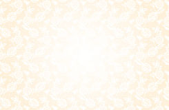 Delicate beige background with lace floral pattern. In a retro style Royalty Free Stock Photo