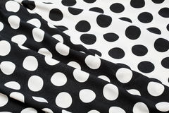 Delicate black and white silky fabric Royalty Free Stock Images