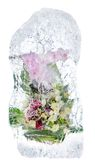 Delicate bouquet of flowers in the ice Stock Photo