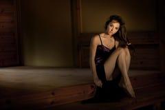 Delicate brunette posing Stock Photo