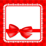 Delicate card with bow Royalty Free Stock Images