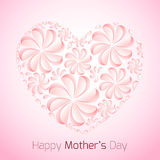 Delicate card for Mother's Day with paper flowers Stock Images