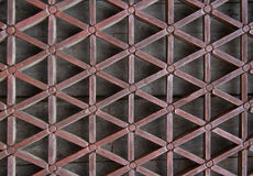 Delicate carved window lattice Royalty Free Stock Photos