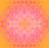 Delicate centered ornament yellow orange pink violet Stock Images