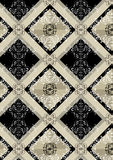 Delicate checkered seamless background with a black square Royalty Free Stock Photography