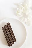 Delicate chocolate wafers Royalty Free Stock Photo