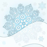 Delicate Christmas frame Royalty Free Stock Photos