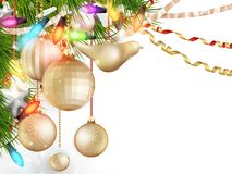 Delicate Christmas ornaments. EPS 10 Stock Photo