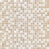Delicate color brown mosaic tile wall Royalty Free Stock Photos